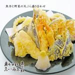 魚介と野菜の天ぷら盛り合わせ