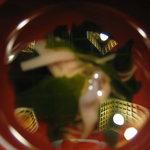 田舎茶屋 千恵 - 凄く上品な味付けをされていらっしゃるお吸い物^^ 我ながらベストアングルで撮れた気が(笑)