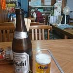 うどん深川 - 瓶ビール中d(^-^)