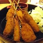 魚伝 - 串かつ盛合せ