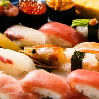 新鮮さが自慢のうまい寿司!お好きなネタを一貫99円(税抜)~