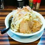 ラーメンつけ麺 笑福 - 麺少なめ(味卵サービス) 野菜増し