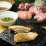 【溶岩焼き】鳥取・大山どり肉&肝5種盛合わせ