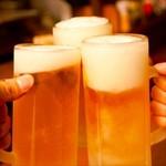くつろぎダイニング とりあえず吾平 - 生ビール 乾杯 飲み放題