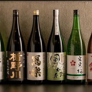 全国の地酒20種類以上から3種類選べる利き酒セットが500円