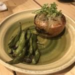 京橋チャコール - 焼玉ねぎと焼枝豆