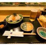 おたる政寿司 - ビール&おつまみ(いかそうめん)