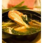 おたる政寿司 - 蟹汁(毛蟹)