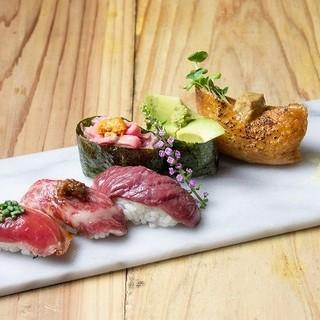馬・牛・豚・鶏・鴨…あらゆる肉を寿司のネタに!