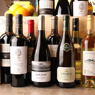 種類豊富なワインメニュー!