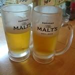 浦ちゃん - 生ビール  1杯380円