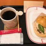 カフェ・ベローチェ 南藤沢店 - モーニングAカイザーサンド ツナメルトセット