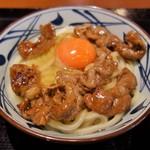 丸亀製麺 - 牛すき釜玉(並640円)