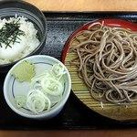 そば処吉野家 - 料理写真:朝そばとろろセット390円 3/31