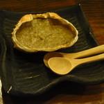 なかめのてっぺん - カニ味噌甲羅焼