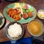 芭蕉 - 馬小屋ランチ 1000円   肉団子♪♪♪ 串焼き♪♪♪美味しい〜〜