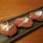 83617711 - 松阪牛霜降り肉炙り寿司