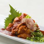 さつま知覧鶏むね肉の辛みそ和え 韓国風