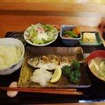 たけ美 - アジの塩焼きランチ1,150円