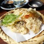 湯どうふ 竹むら - 野菜の天ぷらも付きます