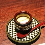 創作割烹 はる海 - あわびと筍の茶碗蒸し
