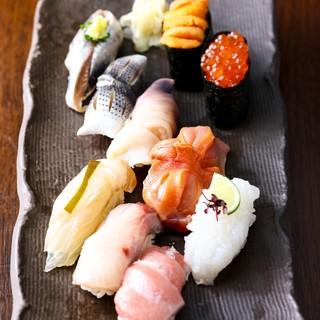 熟練の職人が丁寧に握る旬の鮨&プレミアム飲み放題付宴会プラン