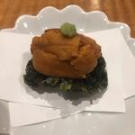 天ぷらチャンピオン - 岩海苔 雲丹のせ