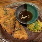 一軒め酒場 - いかチヂミ ¥220  このタレもおいしいんだ