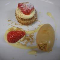ラ ベルベーヌ - いちごのパイとキャラメルアイスクリーム