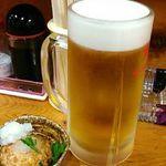 大衆酒場 亀屋 - 生ビールとお通し