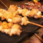 かぜんぐ - 焼き鳥(150円)、砂肝(150円)、梅しそチーズ巻き(230円)