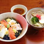 とぅばらーま - 海ぶどう丼セット 1180円(税抜き)