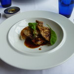 レストラン オルフェ - メイン:仏産ウズラのグリエ 秋野菜と海老の焼きリゾット添え