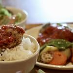 83650795 - 国産鶏の香草パン粉焼きとご飯