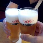 蒲田温泉 - 最初はエクストラゴールドで乾杯!