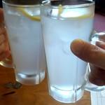 蒲田温泉 - 今度はレモンサワーで乾杯!
