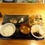 八寸 - トロ鯖炭火焼定食1,200円+おばんざいビュッフェ