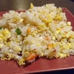 西安刀削麺酒楼 - 週替り炒飯セットの蟹炒飯(小)