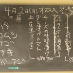 天ぷら やす田 - この日のオススメ