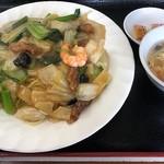 廣聚隆 - 料理写真:五目焼きそばセット