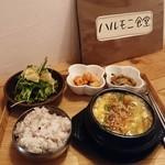 ハルモニ食堂 - 糸島豚 スンドゥブチゲ   + 定食セット