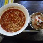 あざみ - タンタン麺ミニ豚丼セット