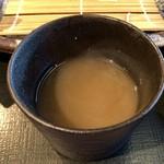 国分寺そば - そば湯in