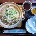 カフェ&レストラン メリーポピンズ - こっちは「きのこ雑炊」。仲間は「海藻入り雑炊」を。うわさどおり旨い!!