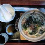 カフェ&レストラン メリーポピンズ - こっちは「海藻入り雑炊」。盛りがいいがヘルシーの具だからいい。