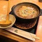 龍 - 龍(愛知県名古屋市中区錦)カレー煮込うどん(エビ・アサリ入)1500円