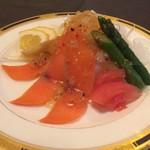 ウイング - 料理写真:宴会コース サーモンカルパッチョ