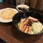 麺や 花 - 麺や 花(愛知県名古屋市中区錦)A炒飯セット 980円・油そば