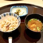 日本料理 伊せ吟 - 食事 蛍烏賊芹の石焼御飯