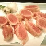 魚や一丁 - たらこの天ぷら